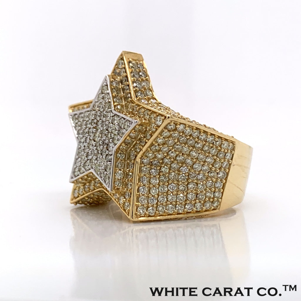 4.50CT Diamond 10K Gold Ring - White Carat Diamonds