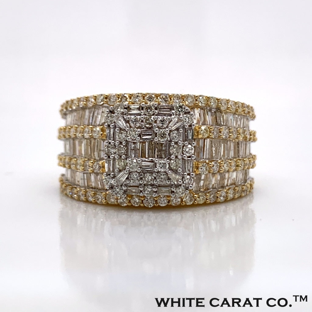 2.75CT Diamond 10K Gold Ring - White Carat Diamonds
