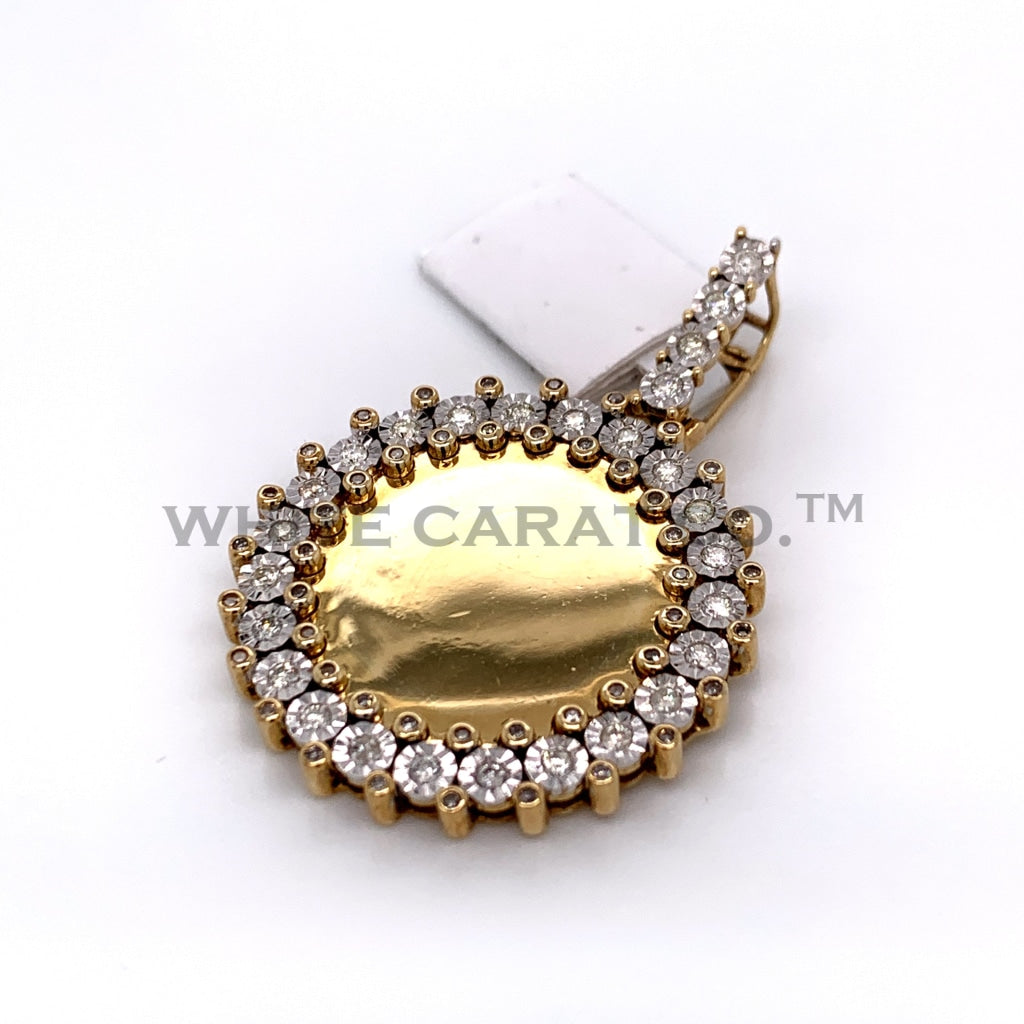 1.00CT Diamond Memory Pendant in 10K Gold - White Carat Diamonds
