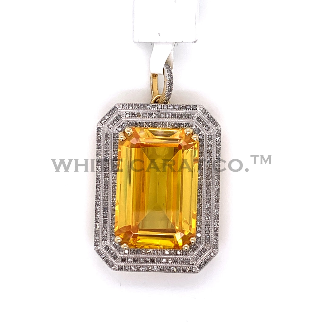 1.00CT Diamond Pendant in 10K Gold - White Carat Diamonds