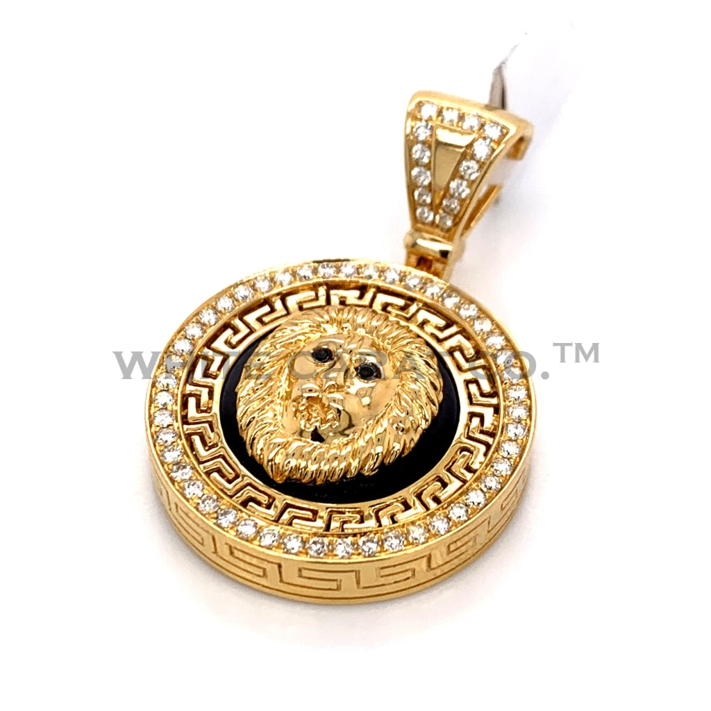 0.70CT Diamond Lion Pendant in 14K Gold - White Carat Diamonds