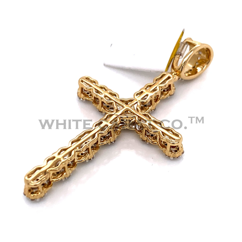 1.33CT Diamond Cross Pendant in 10K Gold - White Carat Diamonds