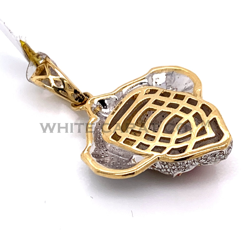 0.84 CT Diamond Pennywise Pendant in 10K Gold - White Carat Diamonds