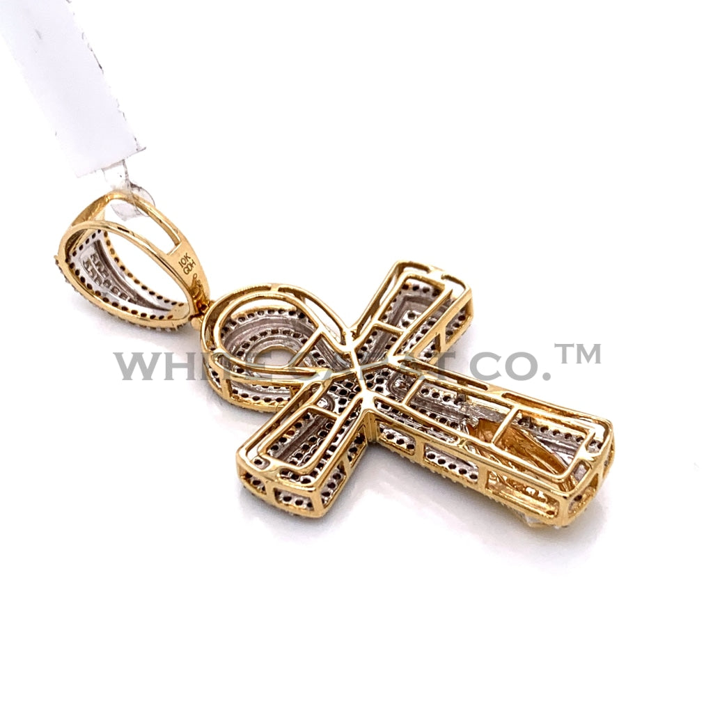 0.65CT Diamond Prayer Hand Cross Pendant in 10K Gold - White Carat Diamonds