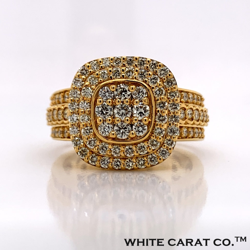 1.73CT Diamond 10K Gold Ring - White Carat Diamonds