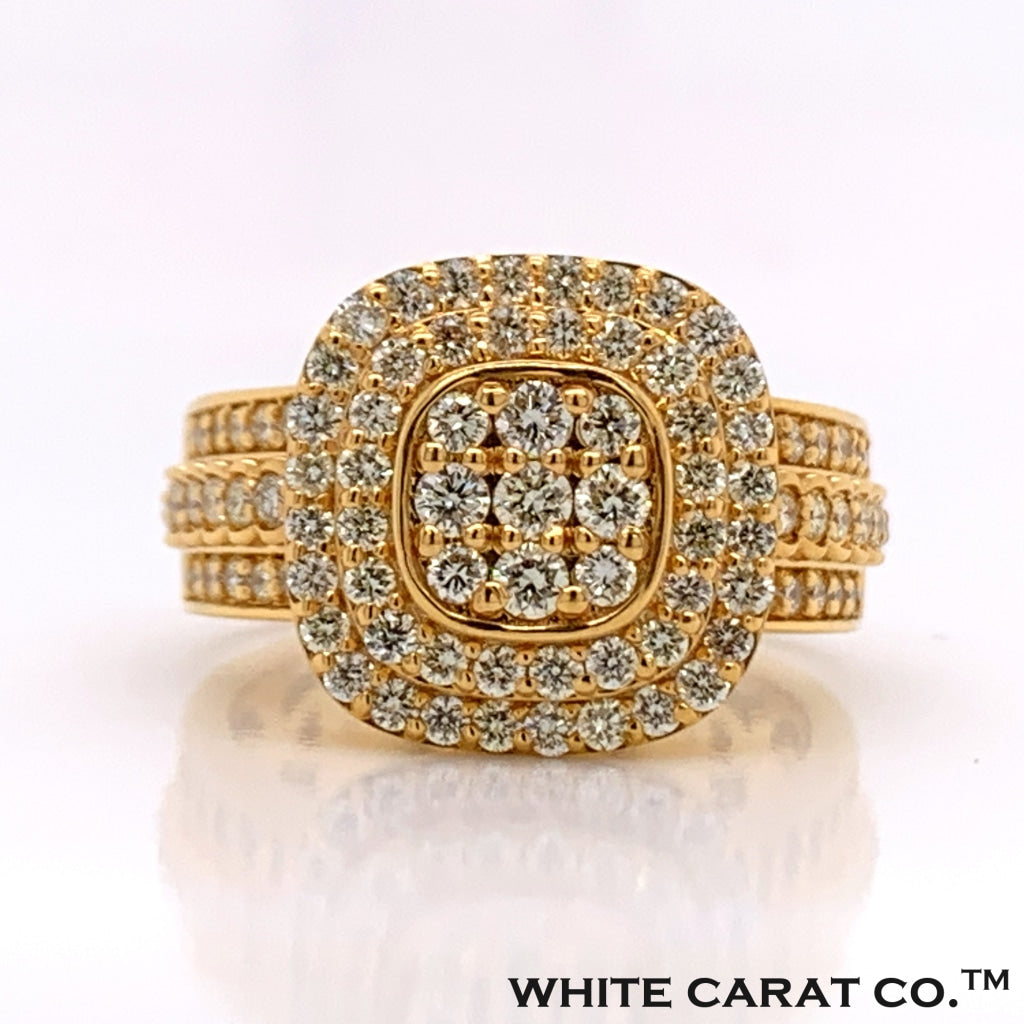 1.78CT Diamond 10K Gold Ring - White Carat Diamonds