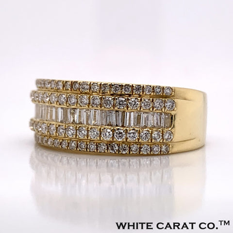 1.03CT Diamond 10K Gold Ring - White Carat Diamonds