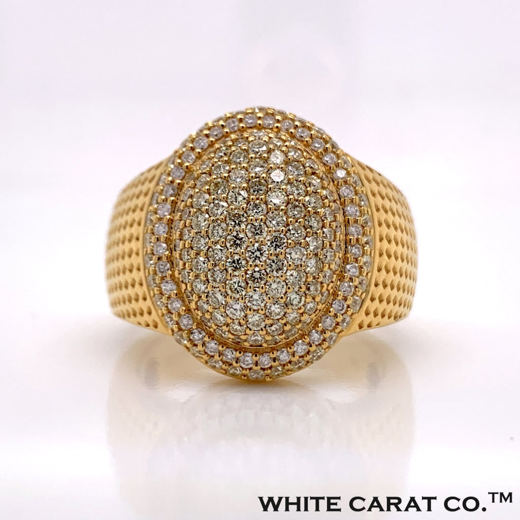 1.72 CT. Diamond Double Oval Ring in 10K Gold - White Carat Diamonds