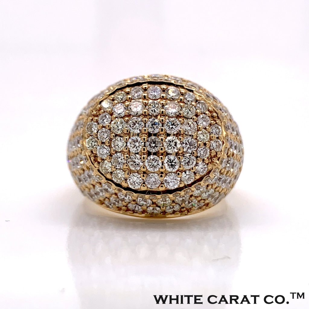 5.25CT Diamond Oval Ring in 10K Gold - White Carat Diamonds
