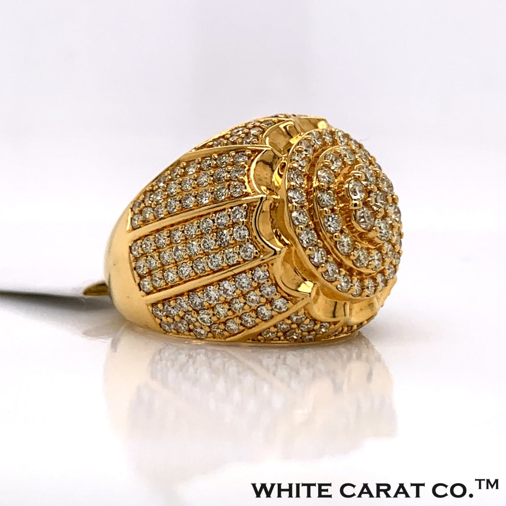 3.46CT Diamond Ring in 10K Gold - White Carat Diamonds