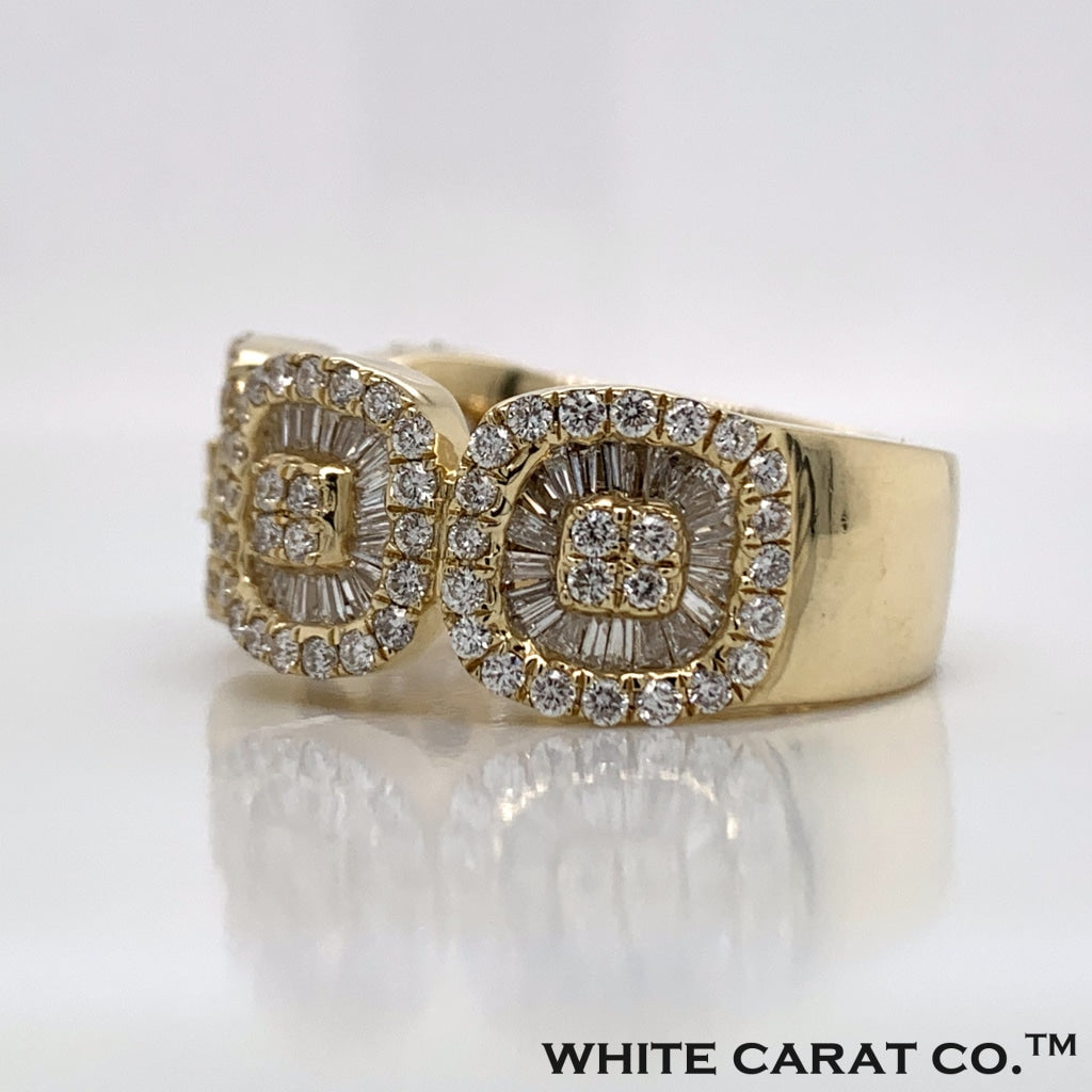 1.57CT Diamond Ring in 10K Gold - White Carat Diamonds
