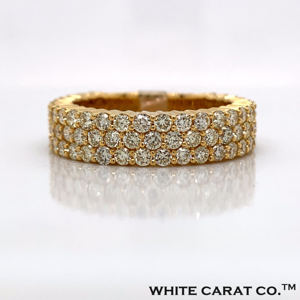 2.98CT Diamond Ring in 10K Gold - White Carat Diamonds