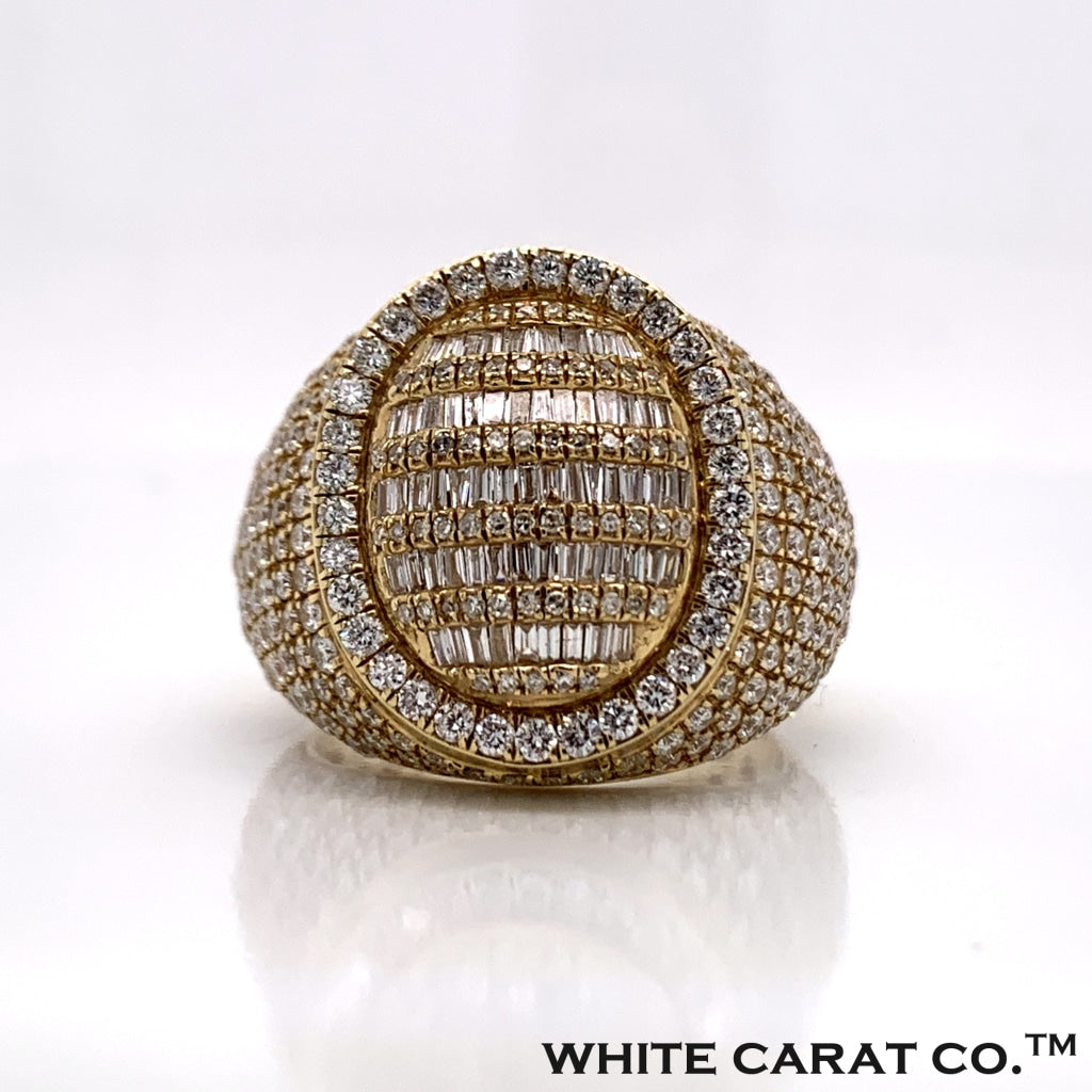 3.28CT Diamond Ring in 10K Gold - White Carat Diamonds