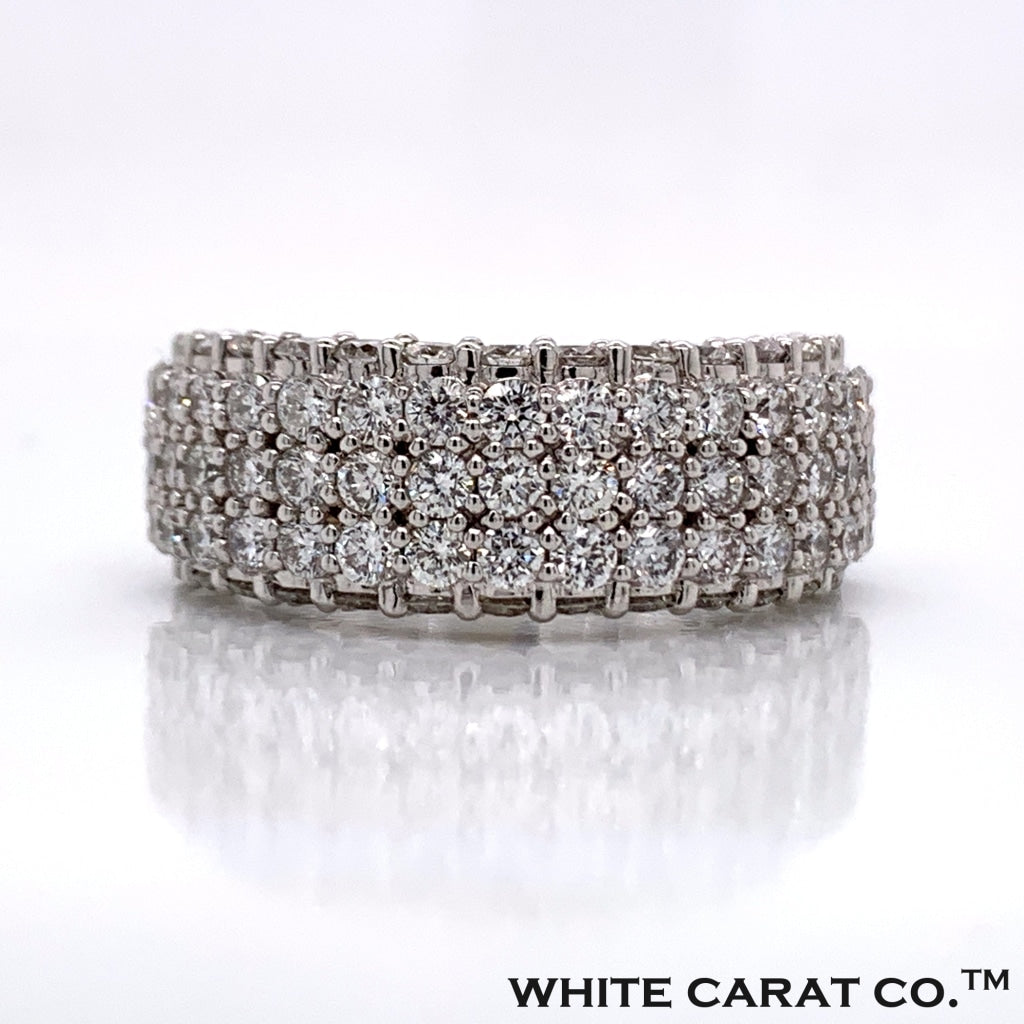 3.36CT Diamond Ring in 10K Gold - White Carat Diamonds