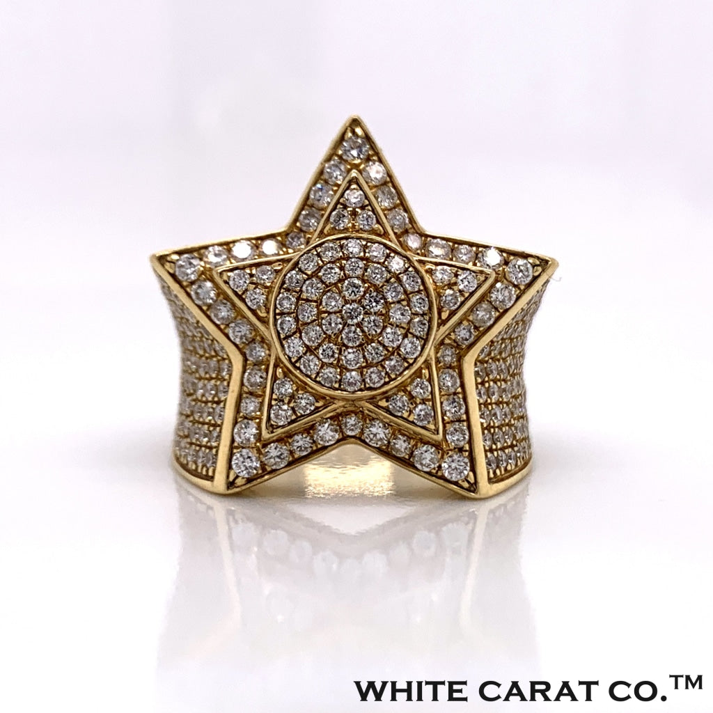 2.95CT Diamond Ring in 10K Gold - White Carat Diamonds
