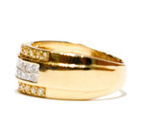 1.10 CT. Flush Set Diamond Wedding Band in 14K Gold - White Carat Diamonds