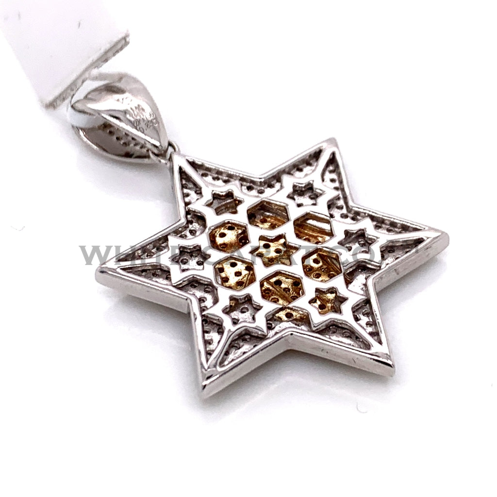 0.83CT Diamond Star Pendant in 14KT Gold - White Carat Diamonds