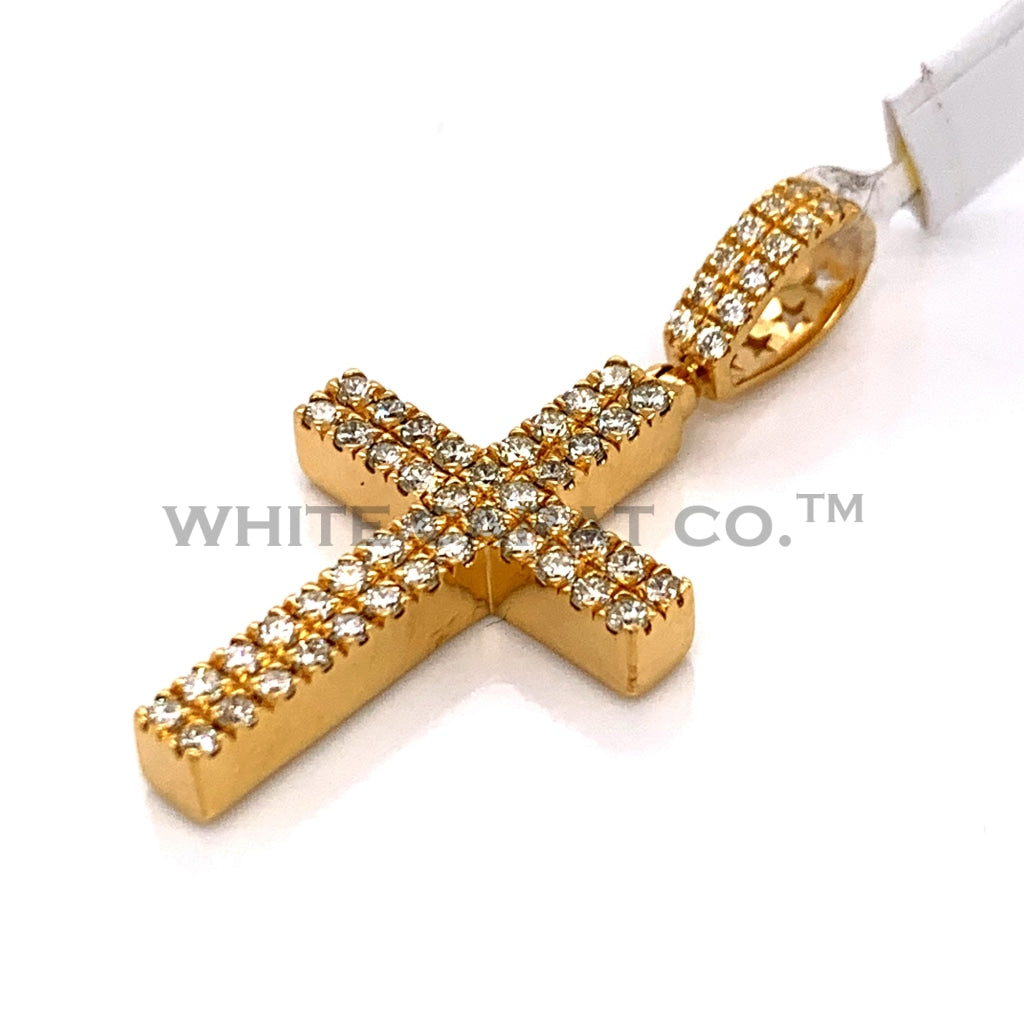 0.99CT Diamond Cross Pendant in 10KT Gold - White Carat Diamonds