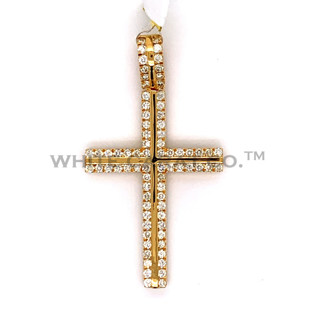 1.03 CT. Diamond Cross Pendant in 10KT Gold - White Carat Diamonds