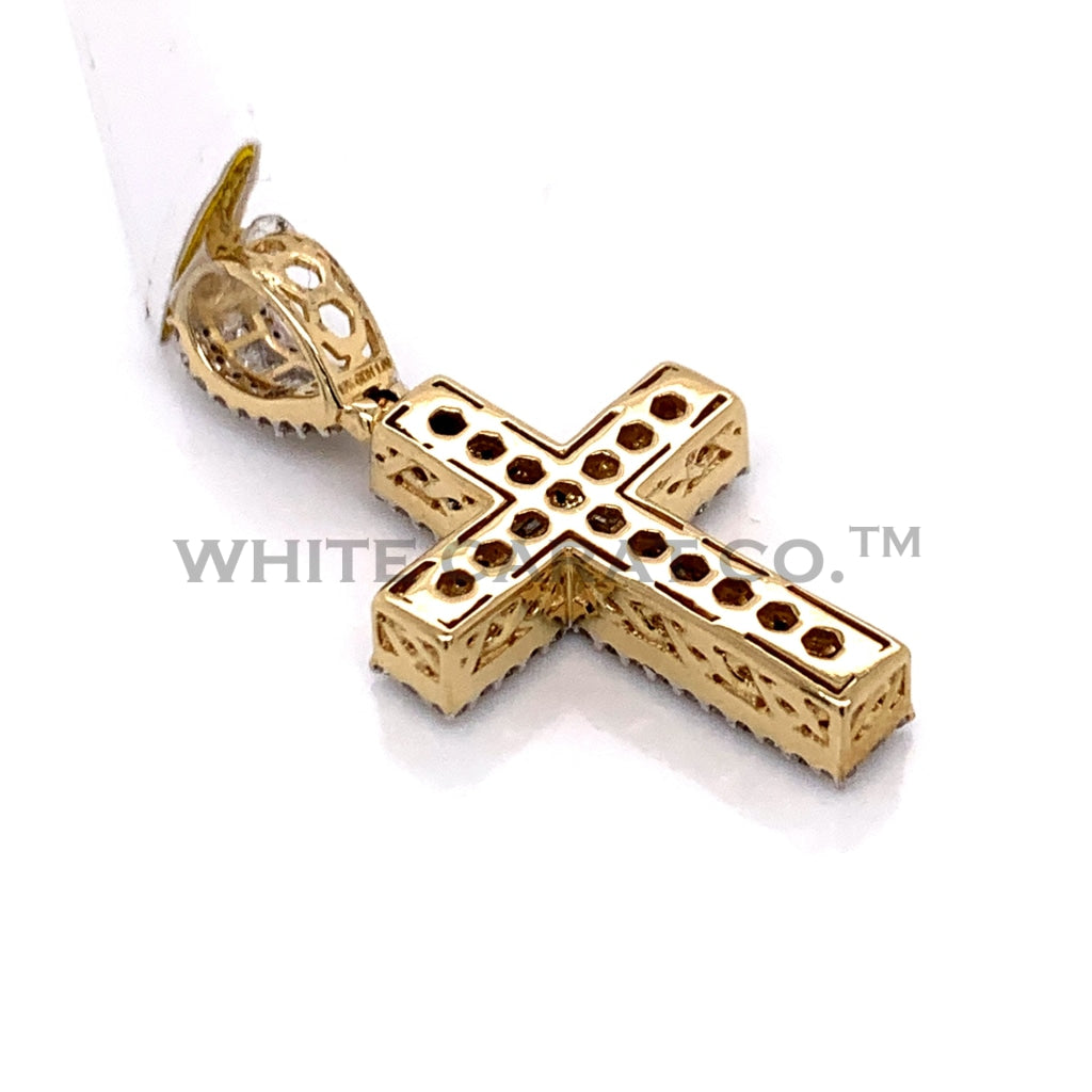 1.01 CT. Diamond Cross Pendant in 10KT Gold - White Carat Diamonds