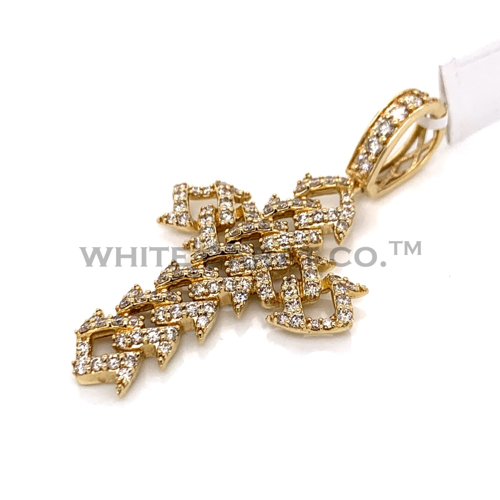 2.50 CT. Diamond Cross Pendant in 14KT Gold - White Carat Diamonds