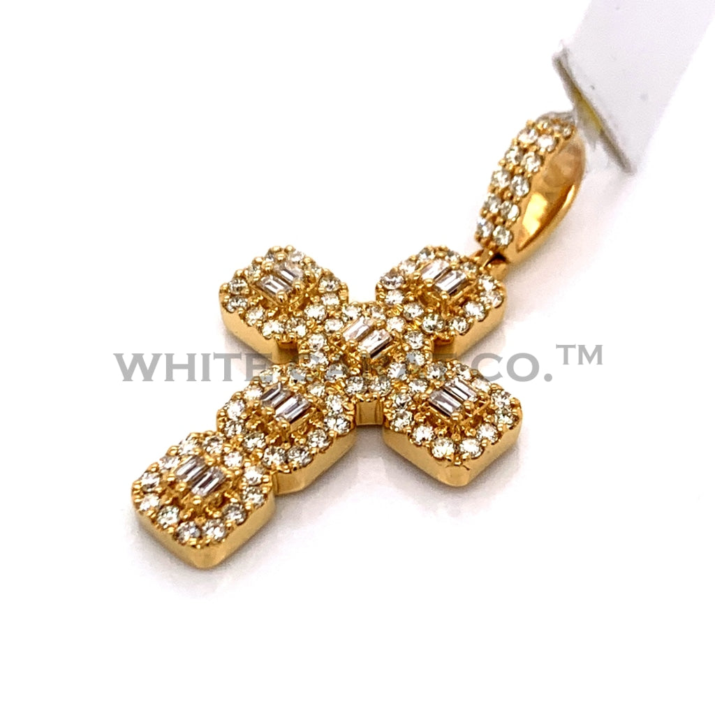 1.25 CT. Diamond Cross Pendant in 10KT Gold - White Carat Diamonds