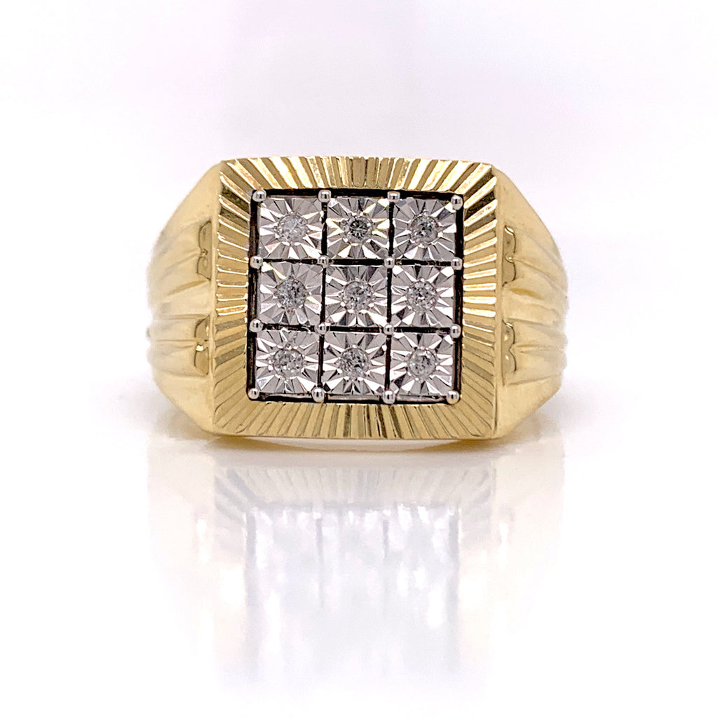 0.10CT Diamond Ring in 10K Gold - White Carat Diamonds