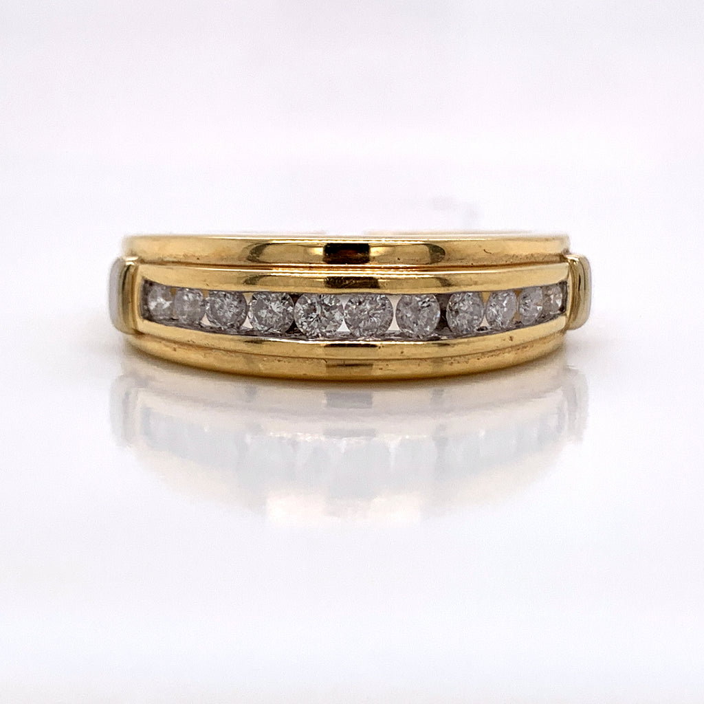 0.48CT Diamond Ring in 14K Gold - White Carat Diamonds