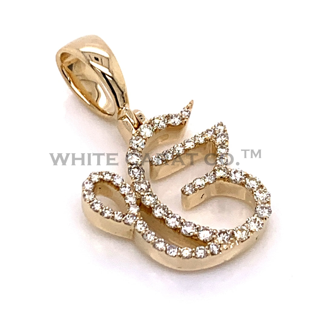 0.55 CT. Diamond Ek Onkar Pendant in 10K Gold - White Carat Diamonds