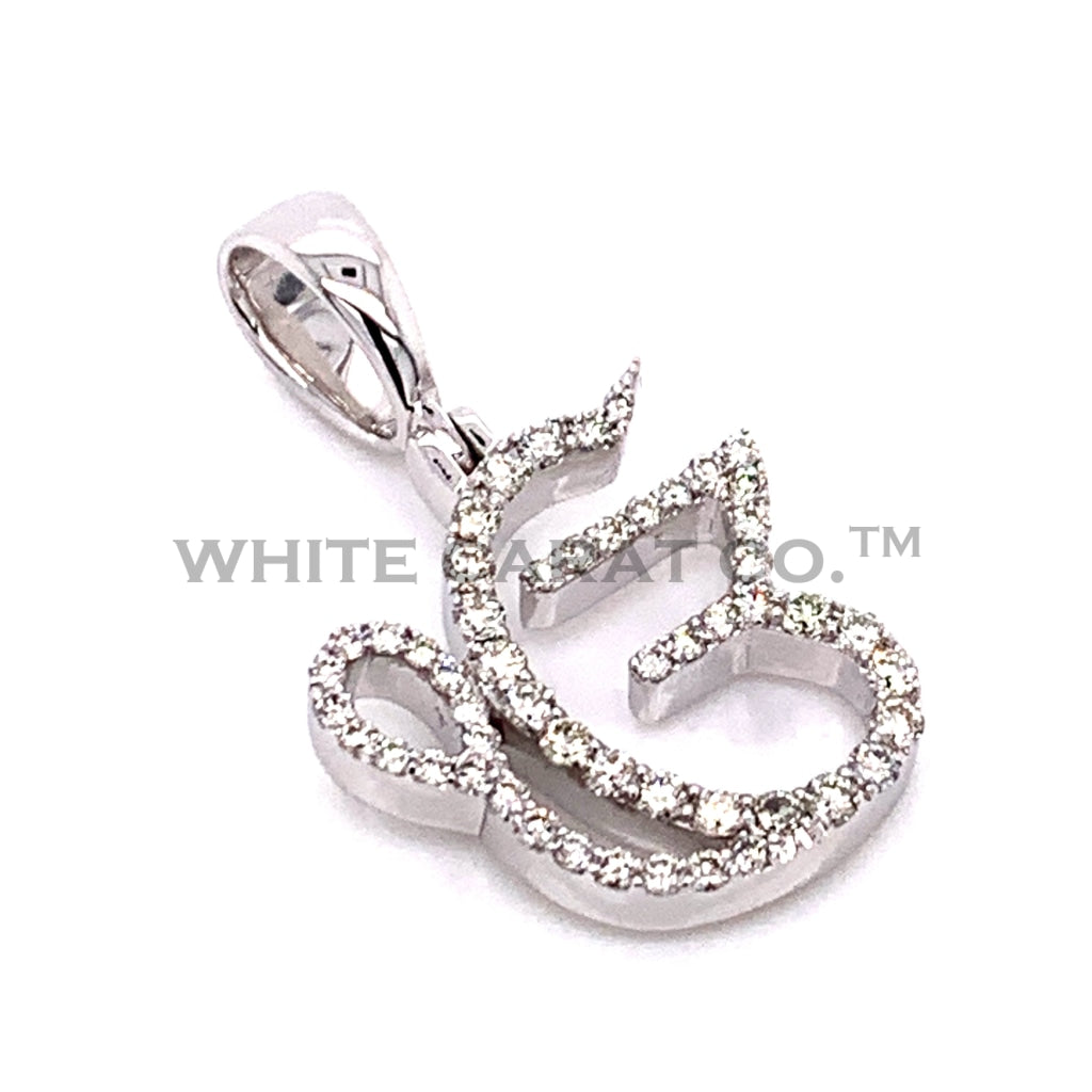0.55 CT. Diamond Ek Onkar Pendant in 10K White Gold - White Carat Diamonds