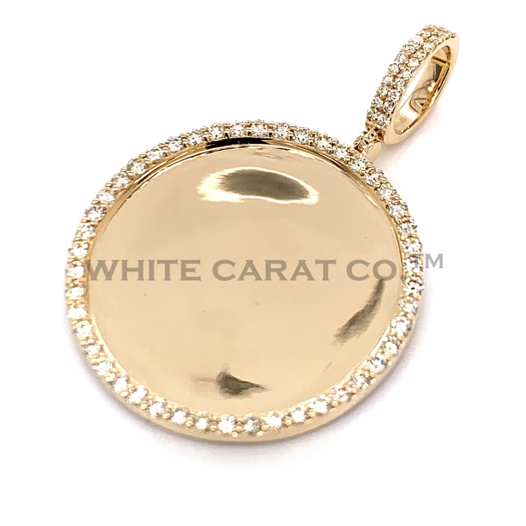 1.55 CT. Diamond Memory Pendant in 10K Gold - White Carat Diamonds