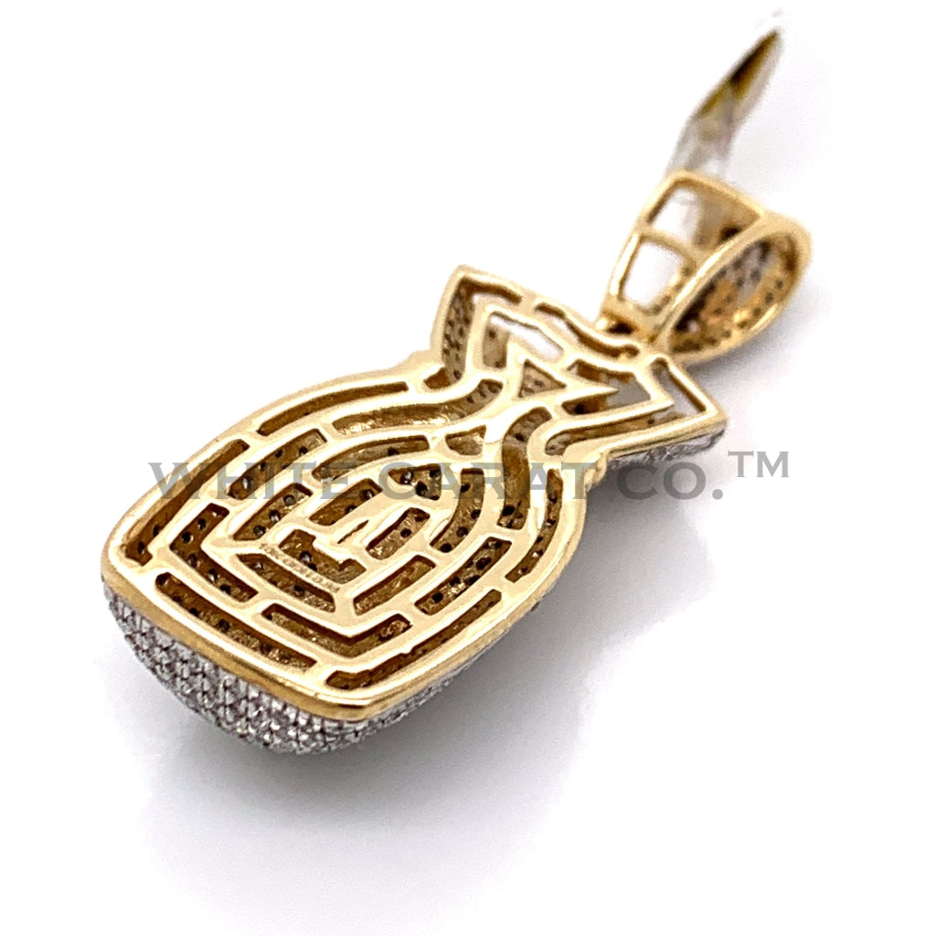 0.88 CT. Diamond Money Bag Pendant in 10KT Gold - White Carat Diamonds