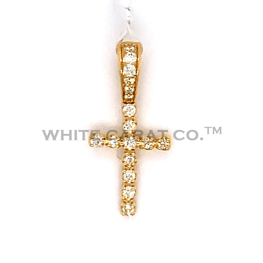 0.73 CT. Diamond Cross Pendant in 10KT Gold - Special Link created - White Carat Diamonds