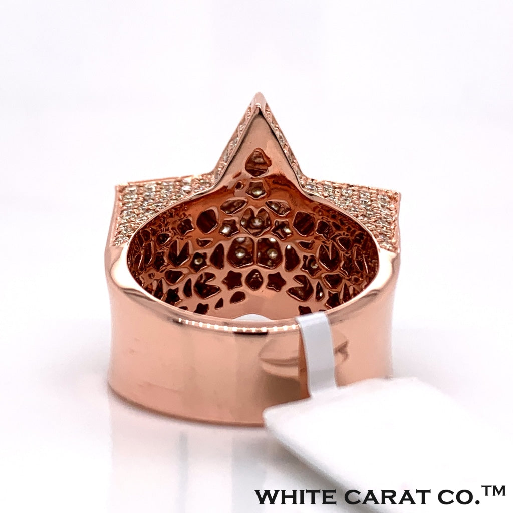 4.00 CT. Diamond Ring in 14K Rose Gold - White Carat Diamonds