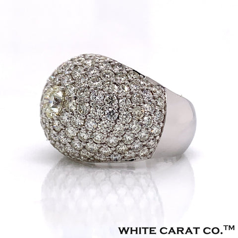 6.50 CT. Diamond Ring in 14K White Gold - White Carat Diamonds