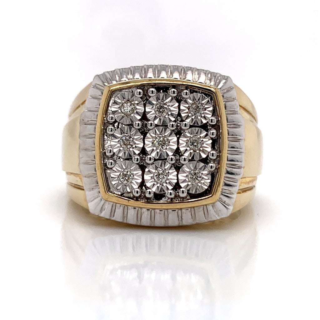 0.11 CT. Diamond Ring in 10K Gold - White Carat Diamonds