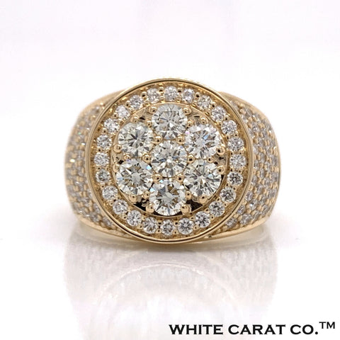 3.75 CT. VVS Diamond 14K Gold Ring - White Carat Diamonds