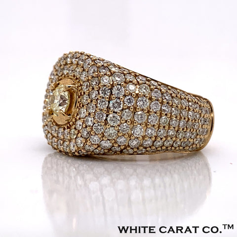 6.70 CT. Diamond Ring in 14K Gold - White Carat Diamonds