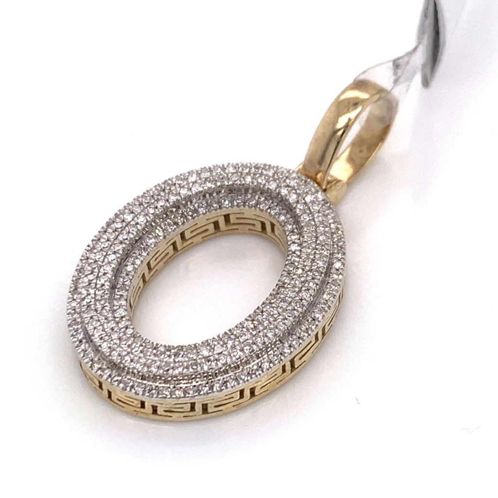 "0.38 CT. Diamond Letter ""O"" Pendant in 10K Gold - White Carat Diamonds"