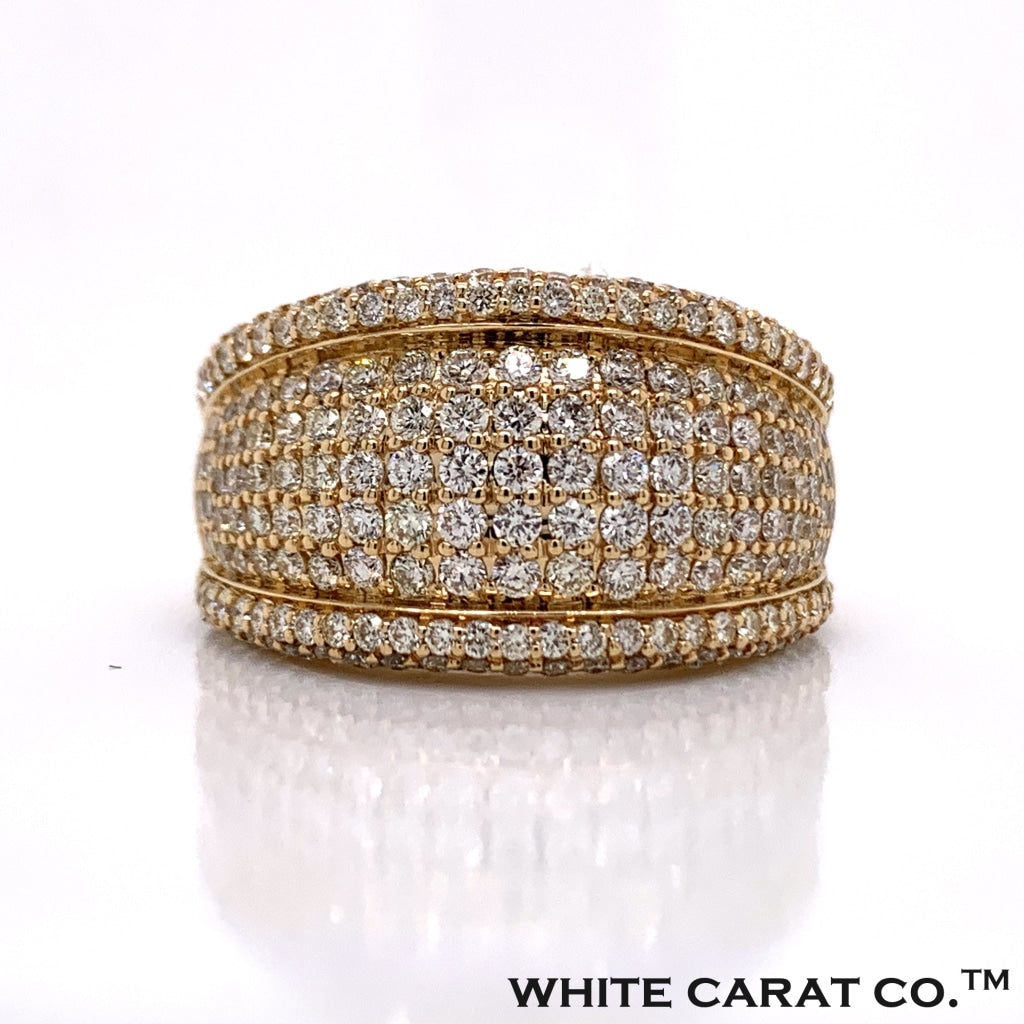 3.00 CT. Diamond Rounded Channel Ring in 14K Gold - White Carat Diamonds