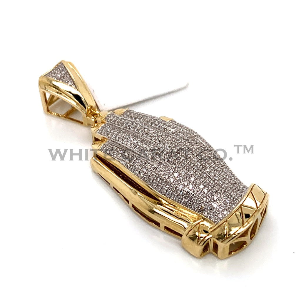0.99 CT. Diamond Prayer Hands Pendant in 10KT Gold - White Carat Diamonds