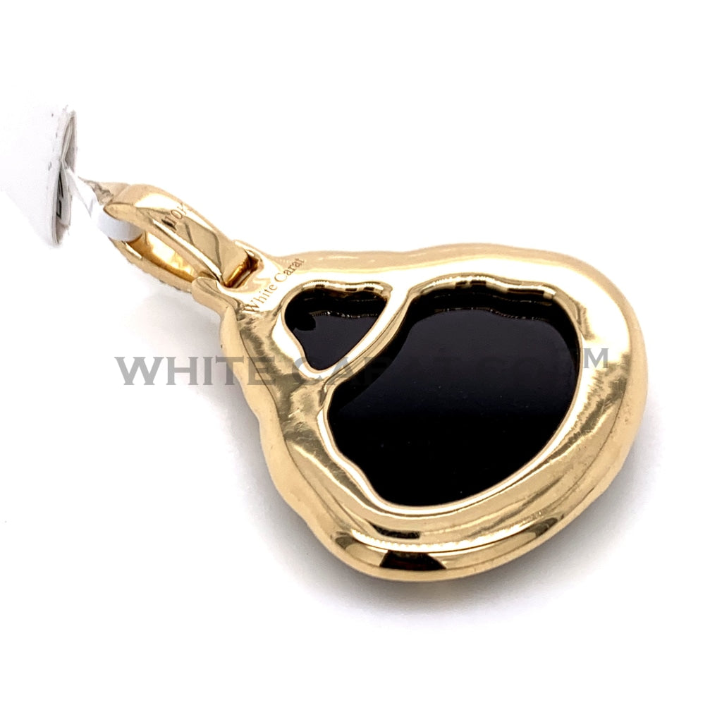 1.35 CT. Diamond Black Buddha Pendant in 10KT Gold - White Carat Diamonds