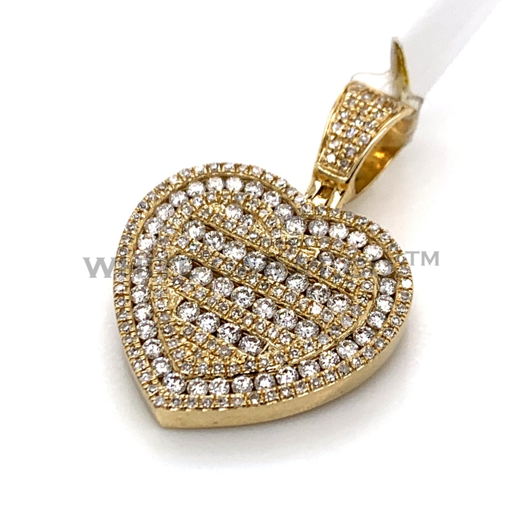 1.43 CT. Diamond Heart Pendant in 10KT Gold - White Carat Diamonds