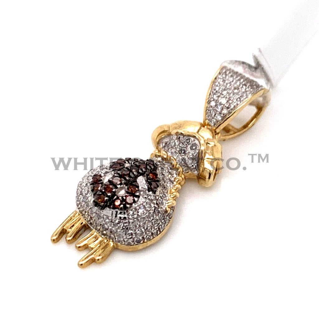 0.42 CT. Diamond Money Bag Pendant in 10KT Gold - White Carat Diamonds
