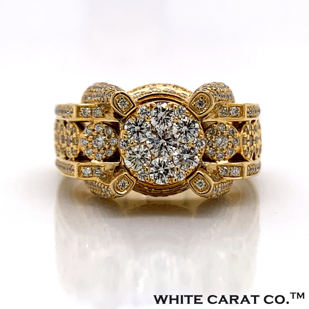 2.92 CT. Diamond Ring in 10K Gold - White Carat Diamonds