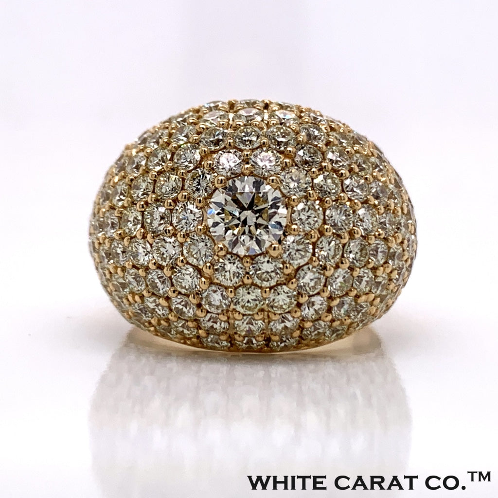 6.50 CT. Diamond Ring in 14K Gold - White Carat Diamonds