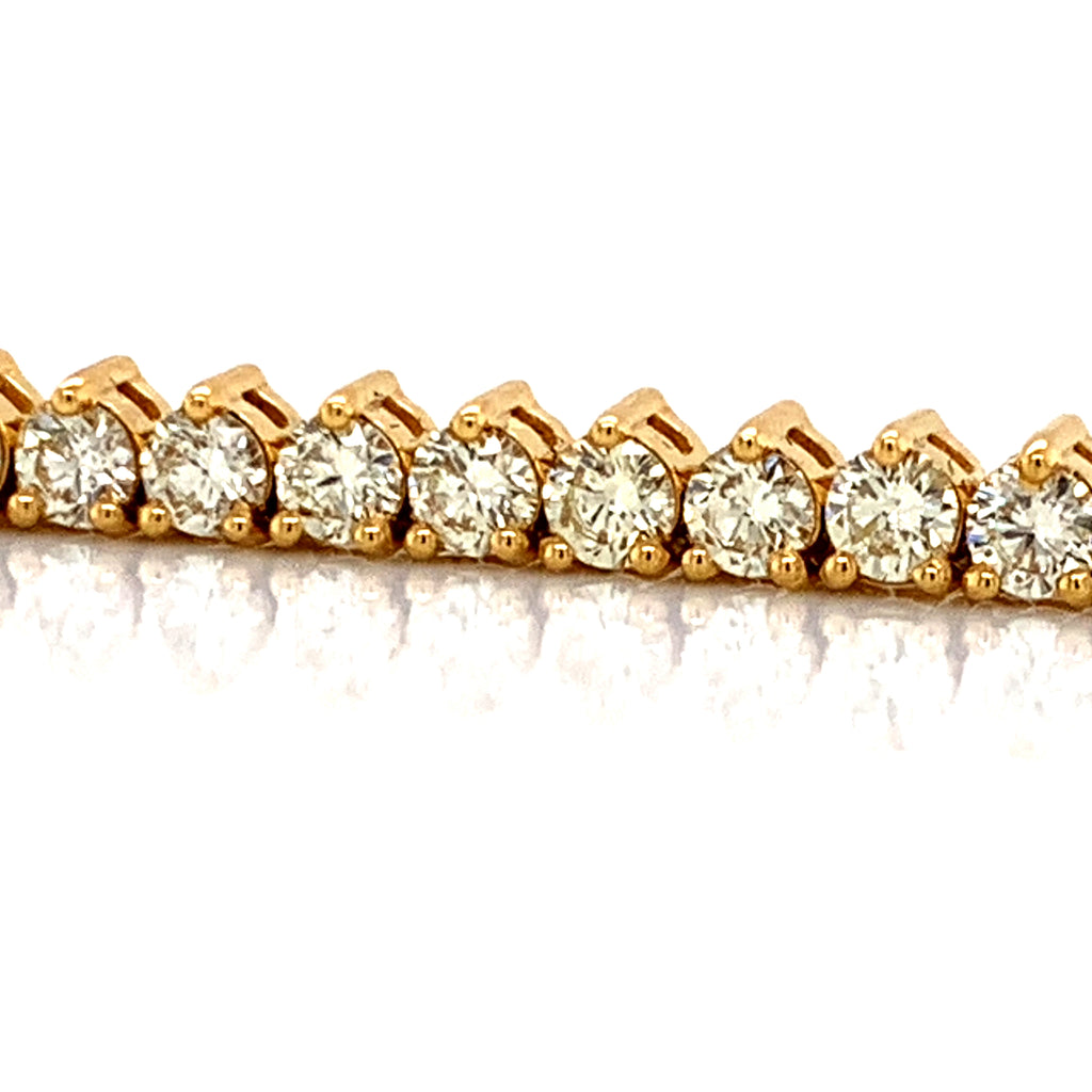 16.85 CT. Tennis Chain in 10KT Gold - White Carat Diamonds