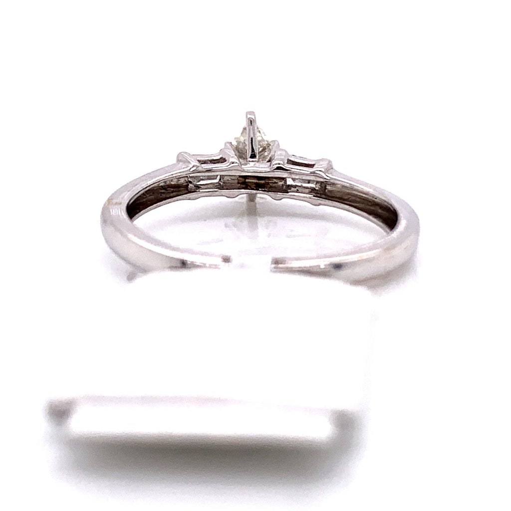 0.45 CT. Diamond Engagement Ring in 14K White Gold - White Carat Diamonds