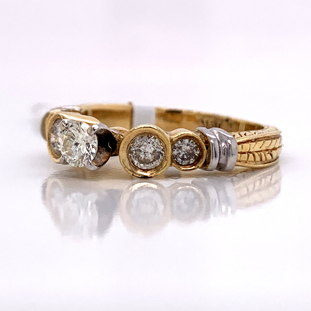 0.60 CT. Diamond Fancy Ring in 14K Gold - White Carat Diamonds