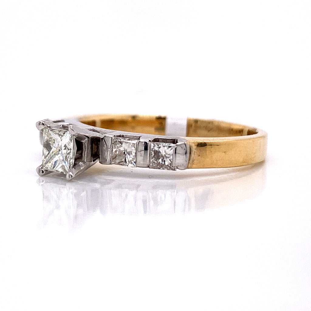 1.00 CT. Diamond Engagement Ring in 14K Yellow Gold - White Carat Diamonds